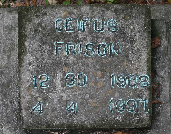 Ceifus Frison Gravestone Photo