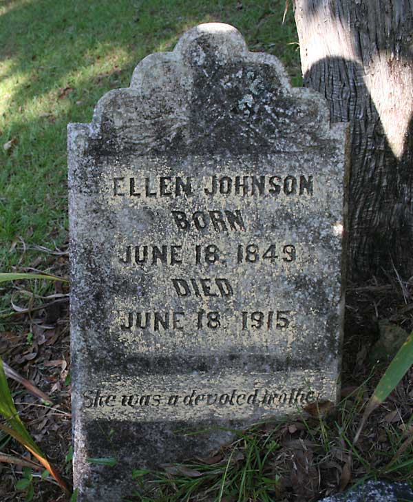 Ellen Johnson Gravestone Photo