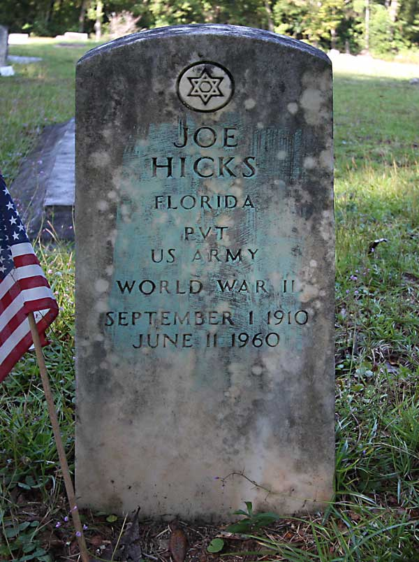 Joe Hicks Gravestone Photo
