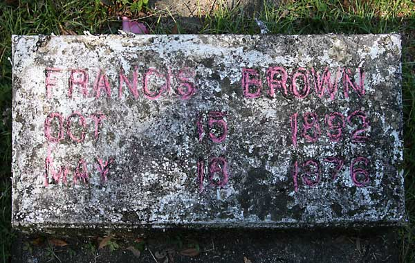 Francis Brown Gravestone Photo