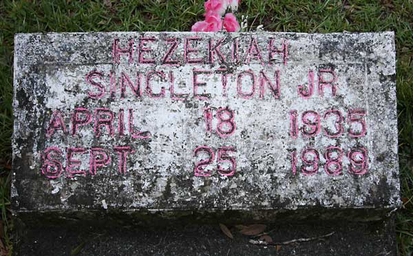 Hezekiah Singleton Gravestone Photo