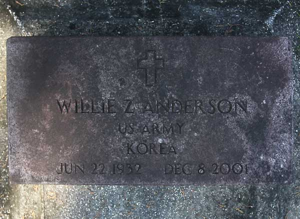 Willie Z. Anderson Gravestone Photo