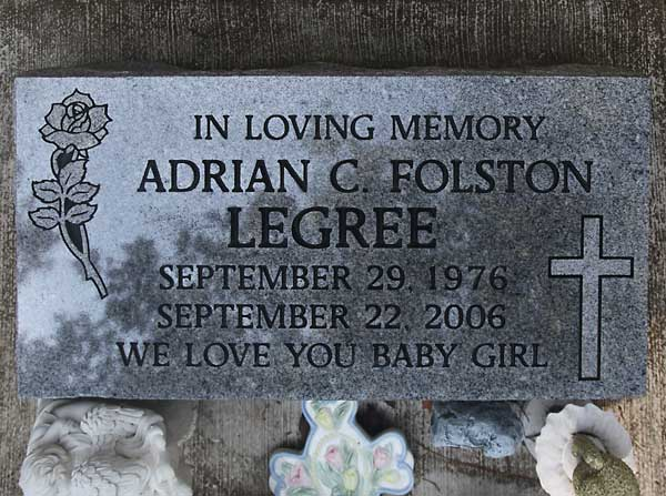 Adrian C. Folston Legree Gravestone Photo