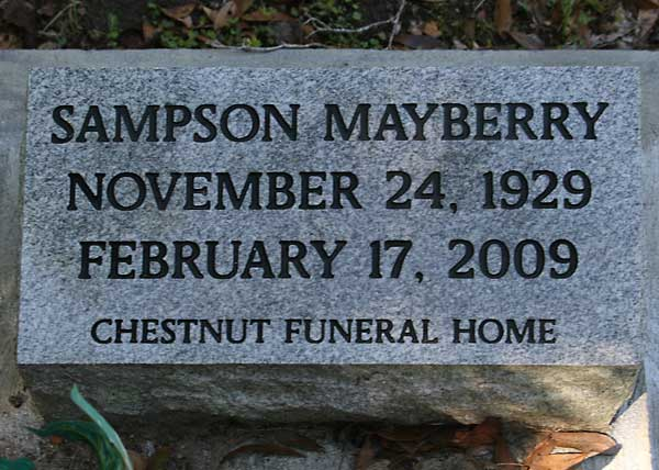 Sampson Mayberry Gravestone Photo