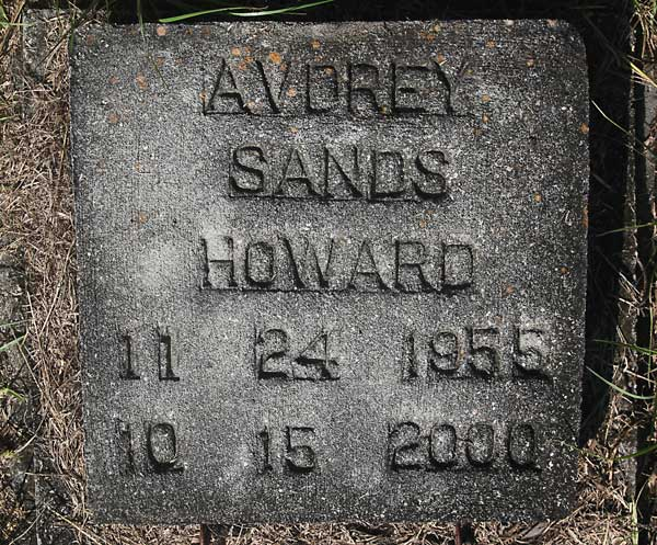Avdrey Sands Howard Gravestone Photo