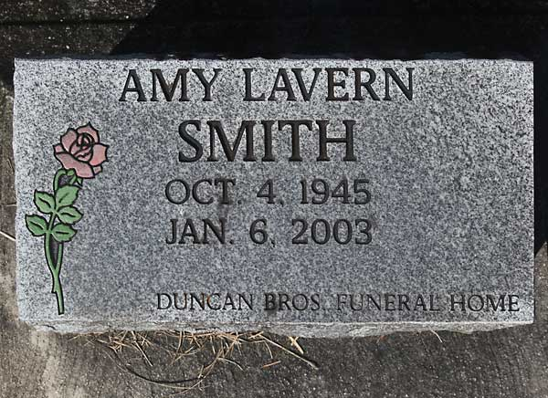 Amy Lavern Smith Gravestone Photo