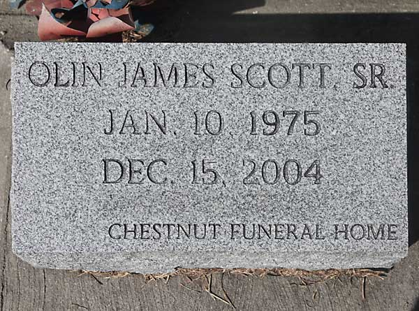 Olin James Scott Gravestone Photo