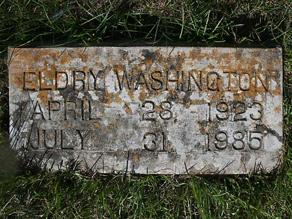 Eldry Washington Gravestone Photo
