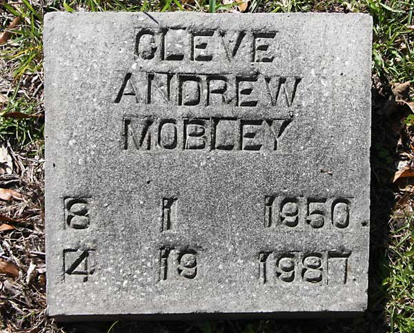 Cleve Andrew Mobley Gravestone Photo
