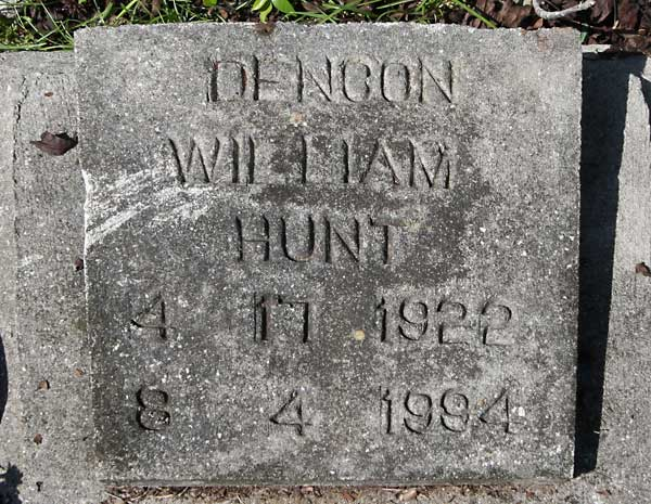 Dencon William Hunt Gravestone Photo