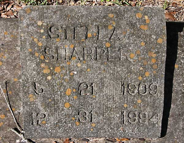 Stella Sharper Gravestone Photo