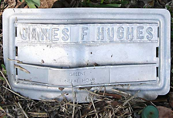 James F. Hughes Gravestone Photo