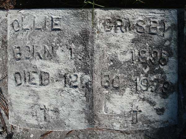 Ollie Grisby Gravestone Photo