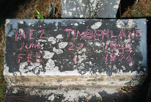 Inez Timberlane Gravestone Photo