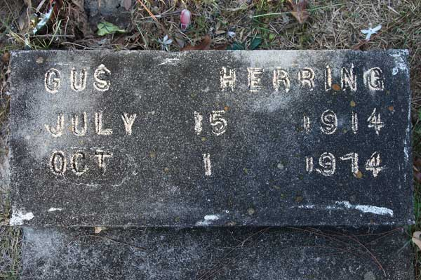 Gus Herring Gravestone Photo