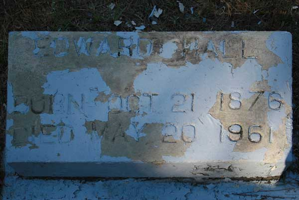Edward Hall Gravestone Photo