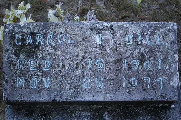 Carrol I. Gill Gravestone Photo