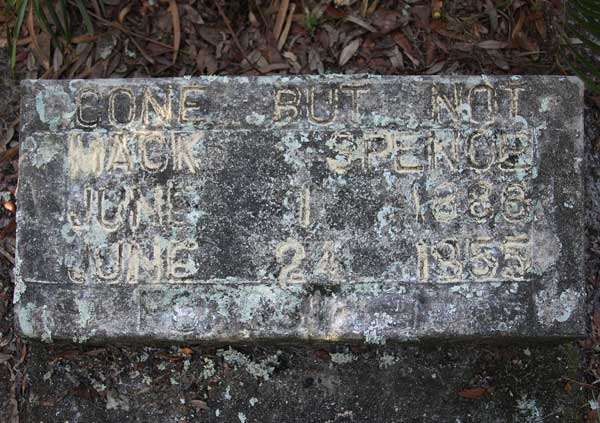 Mack Spence Gravestone Photo