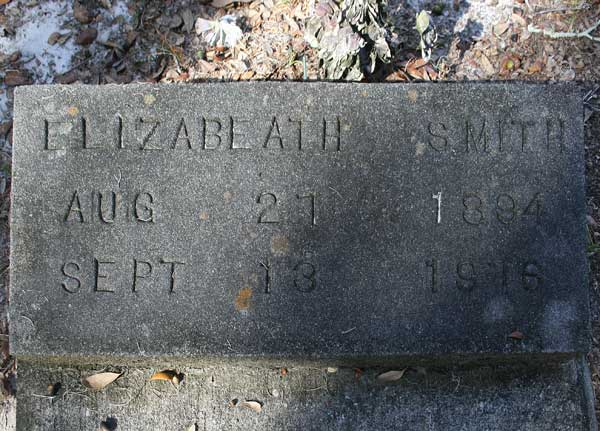 Elizabeth Smith Gravestone Photo