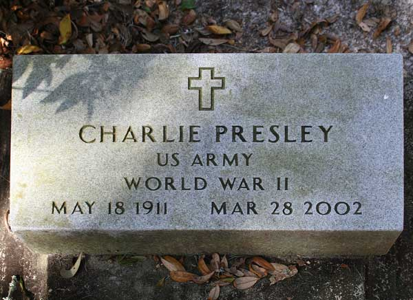 Charlie Presley Gravestone Photo