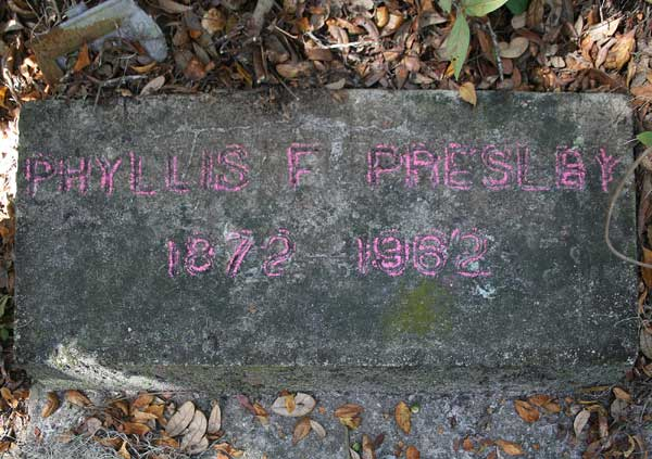 Phyllis F. Presley Gravestone Photo