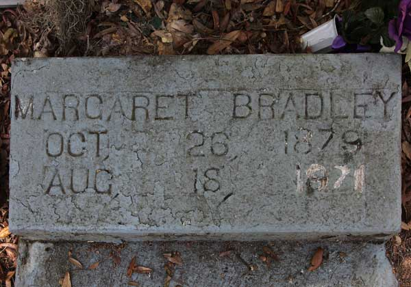 Margaret Bradley Gravestone Photo