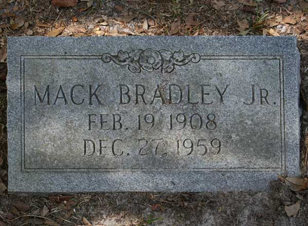 Mack Bradley Gravestone Photo