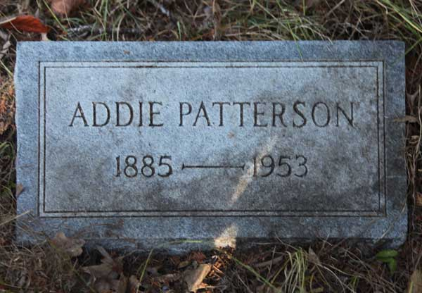 Addie Patterson Gravestone Photo