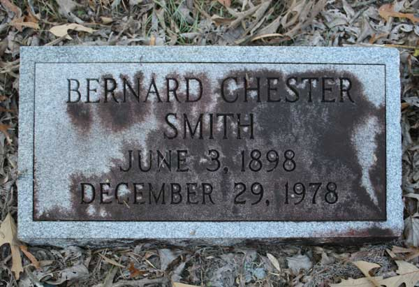 Bernard Chester Smith Gravestone Photo