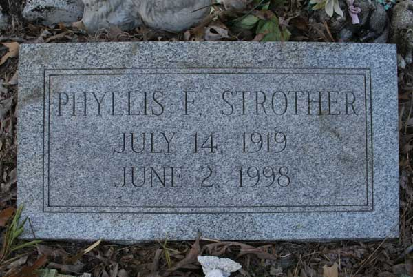 Phyllis F. Strother Gravestone Photo