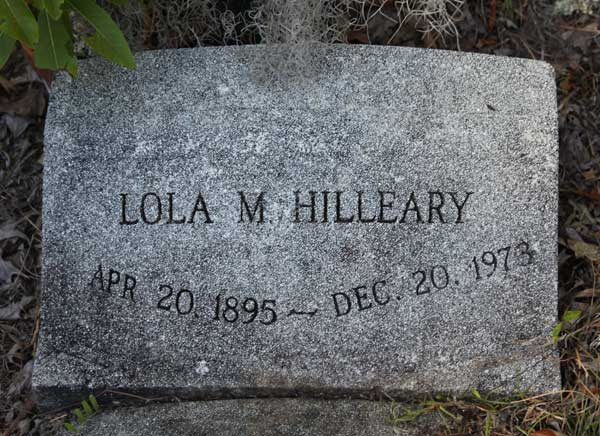Lola M. Hilleary Gravestone Photo