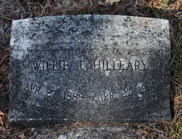 Willie T. Hilleary Gravestone Photo