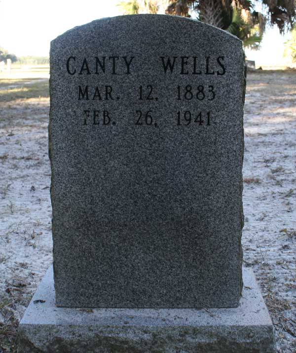 Canty Wells Gravestone Photo
