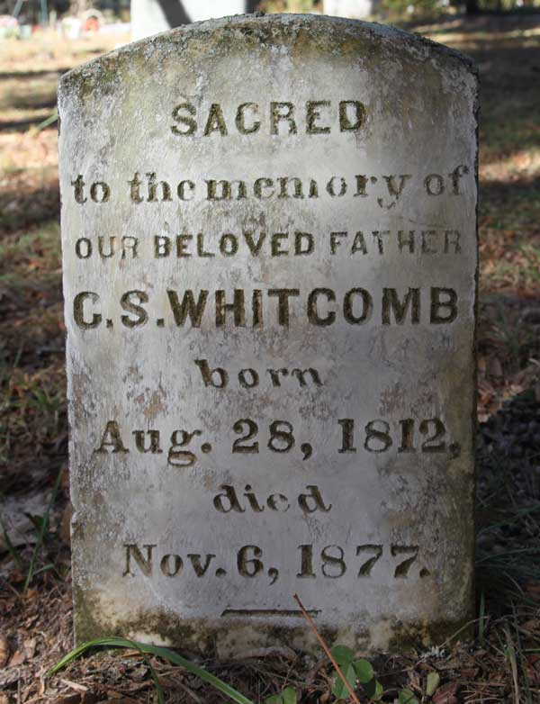 C.S. Whitcomb Gravestone Photo