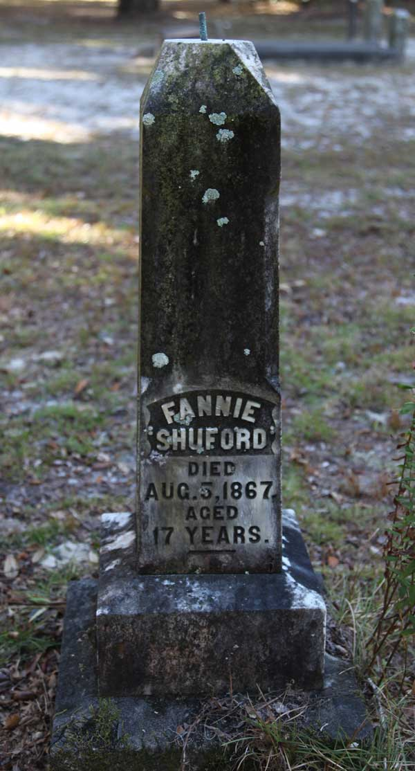Fannie Shuford Gravestone Photo