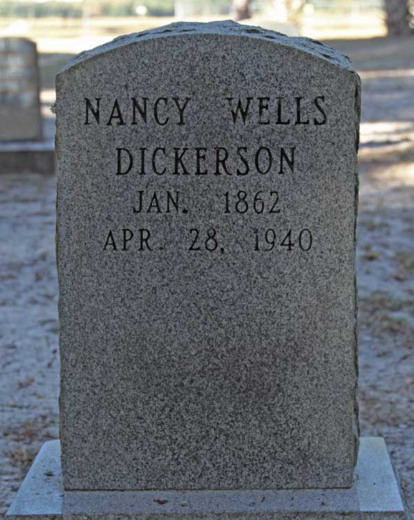 Nancy Wells Dickerson Gravestone Photo