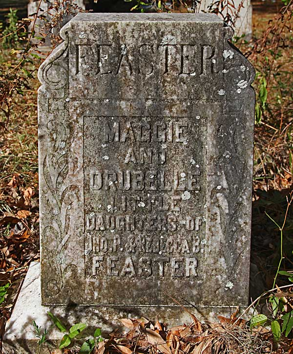 Maggie & Drubelle Feaster Gravestone Photo
