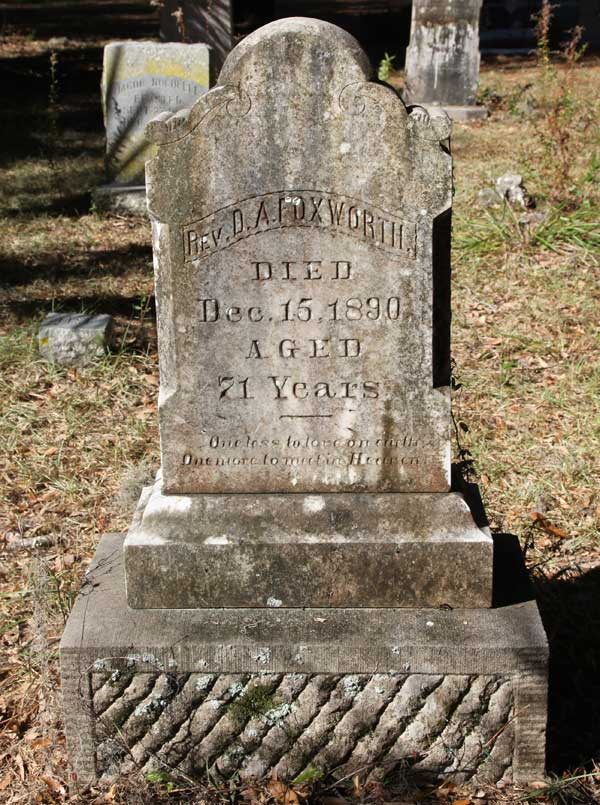 Rev. D.A. Foxworth Gravestone Photo