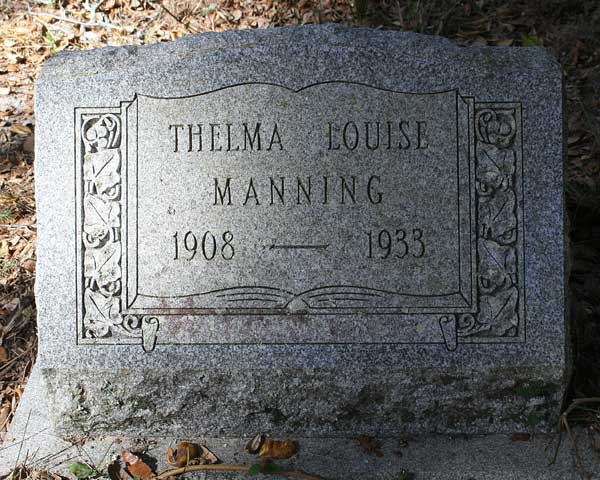 Thelma Louise Manning Gravestone Photo