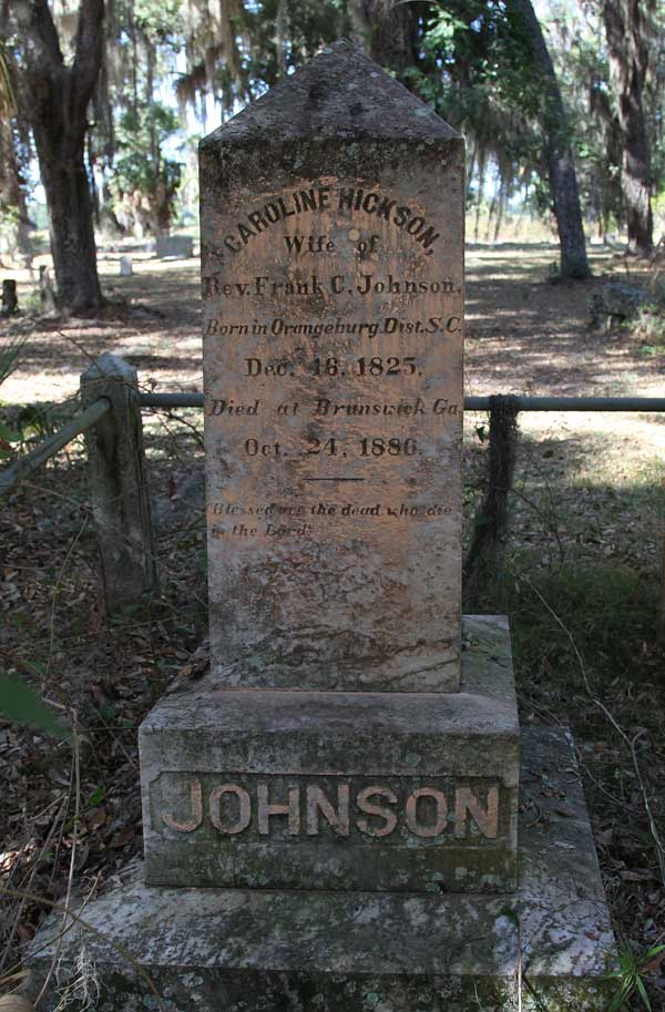 Caroline Hickson Johnson Gravestone Photo
