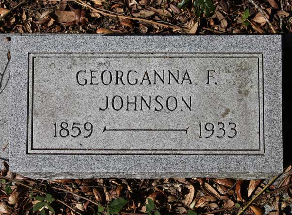 Georganna F. Johnson Gravestone Photo