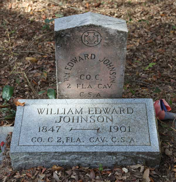 William Edward Johnson Gravestone Photo