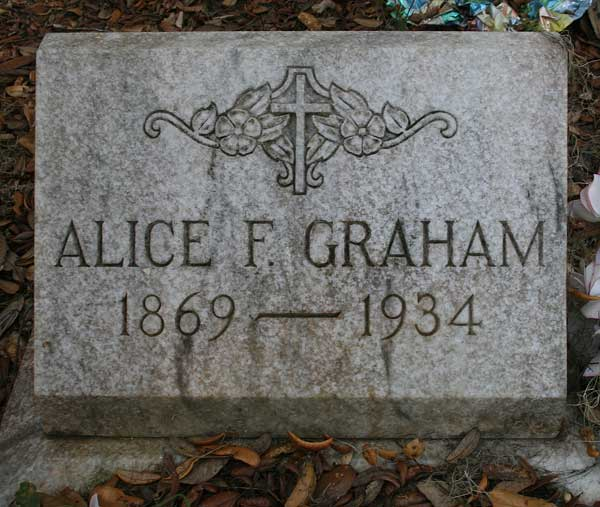 Alice F. Graham Gravestone Photo