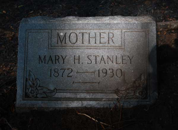 Mary H. Stanley Gravestone Photo