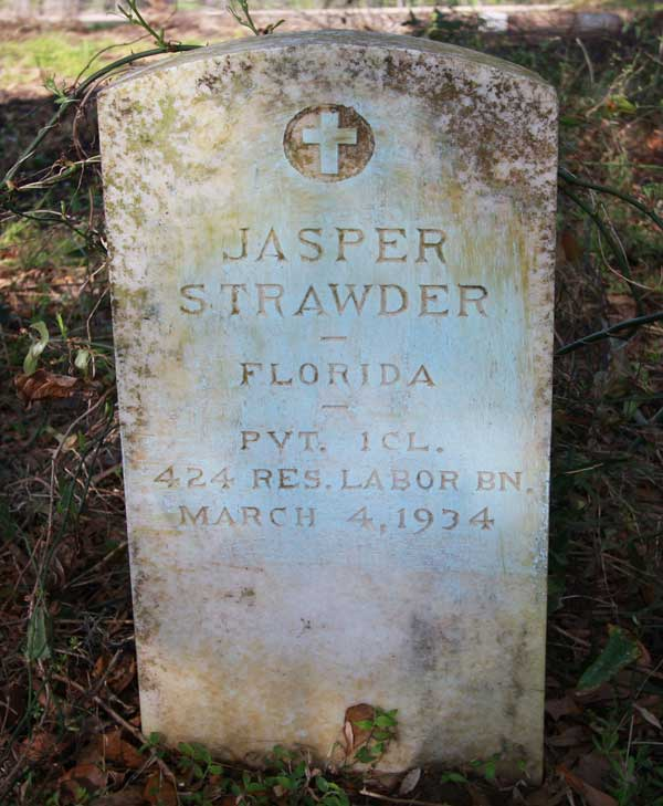 Jasper Strawder Gravestone Photo