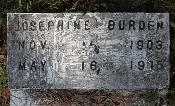 Josephine Burden Gravestone Photo