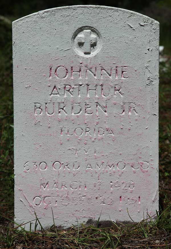 Johnnie Arthur Burden Gravestone Photo