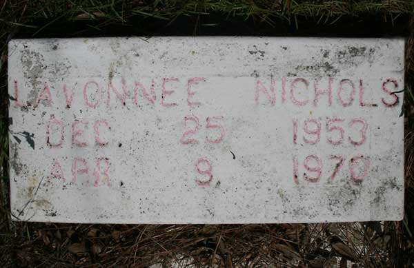 Lavonnee Nichols Gravestone Photo