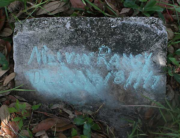 Melvin Ramsy Gravestone Photo