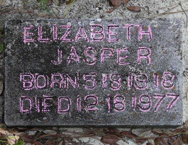Elizabeth Jasper Gravestone Photo